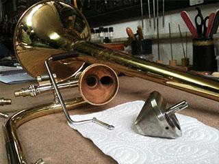 Reparación de trombón de vara con transpositor en Madrid