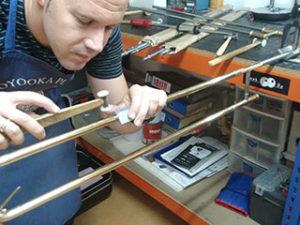 Reparación de trombón de vara simple en Madrid