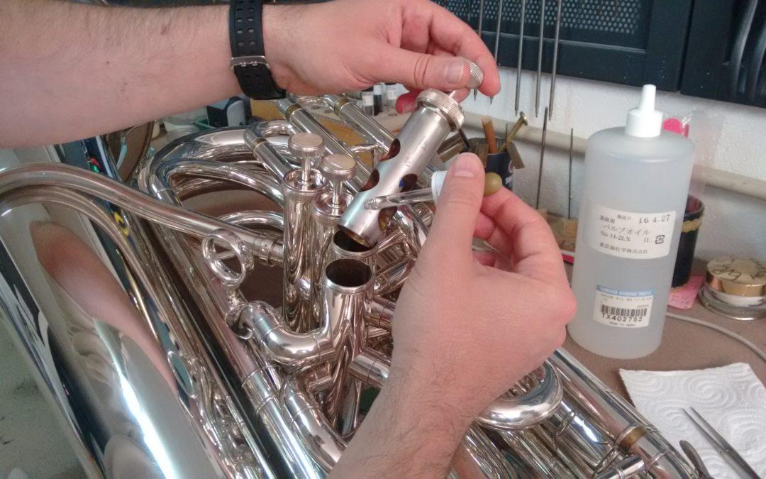 Limpieza interior completa con ácido y sales de una tuba